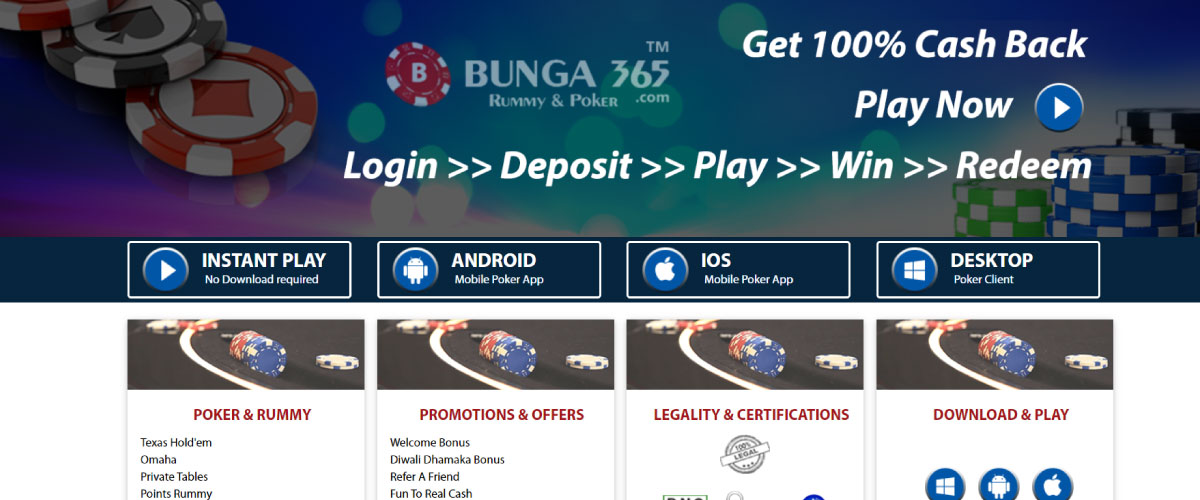 bunga365 poker india