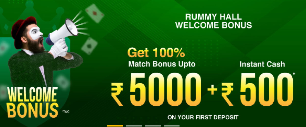 rummy hall welcome bonus
