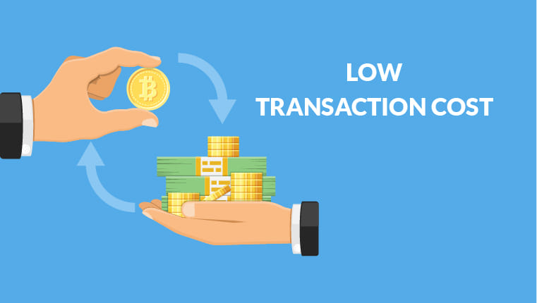 Low transaction cost