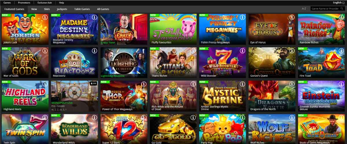 regent play casino games